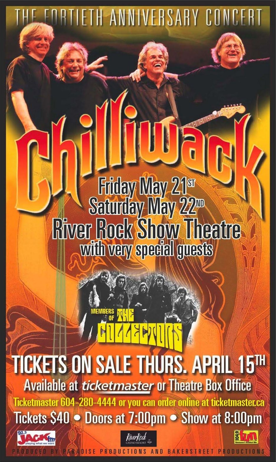 Chilliwack 40th Anniversary Handbill